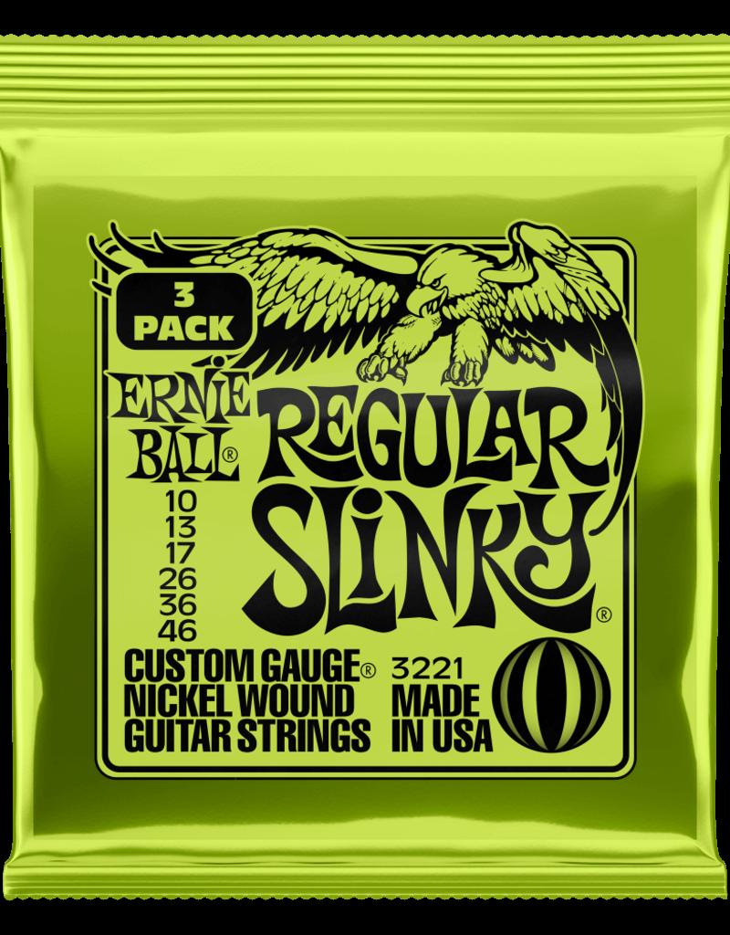 Ernie Ball Ernie Ball 3221 Regular Slinky Nickel Wound Electric Guitar Strings - .010-.046 Factory 3-pack