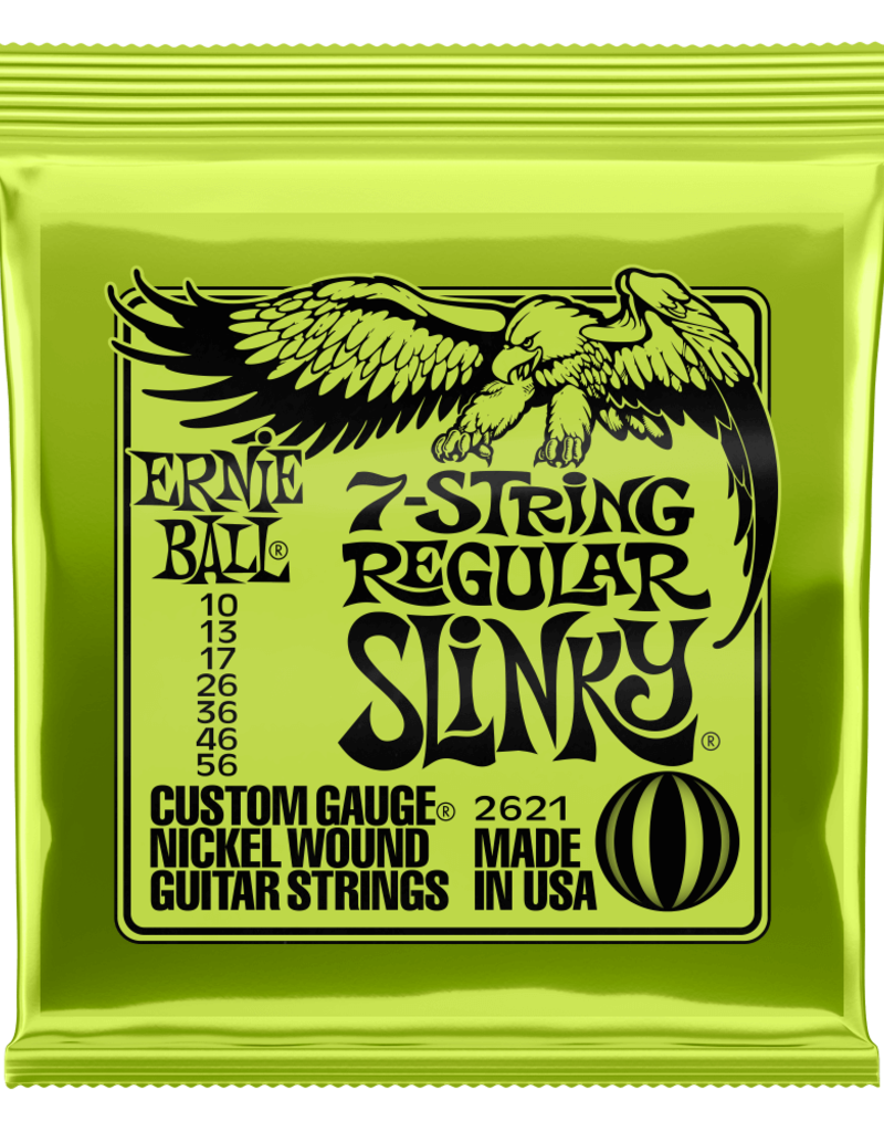 Ernie Ball Ernie Ball 2621 Regular Slinky 7-string Nickel Wound Electric Guitar Strings - .010-.056