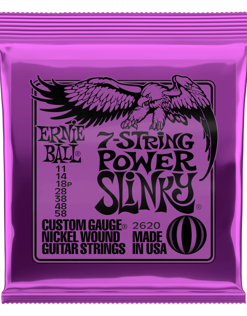 Ernie Ball Ernie Ball 2620 Power Slinky 7-string Nickel Wound Electric Guitar Strings - .011-.058