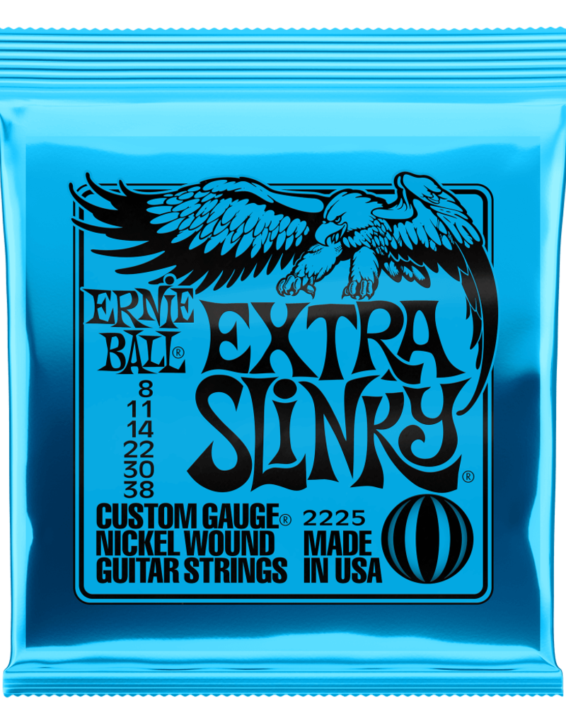 Ernie Ball Ernie Ball 2225 Extra Slinky Nickel Wound Electric Guitar Strings - .008-.038