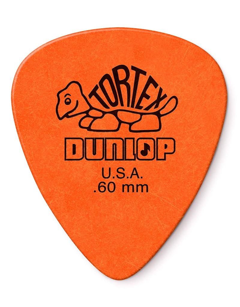 Dunlop Dunlop 418P.60 Tortex Standard .60mm Orange Guitar Picks 12-Pack