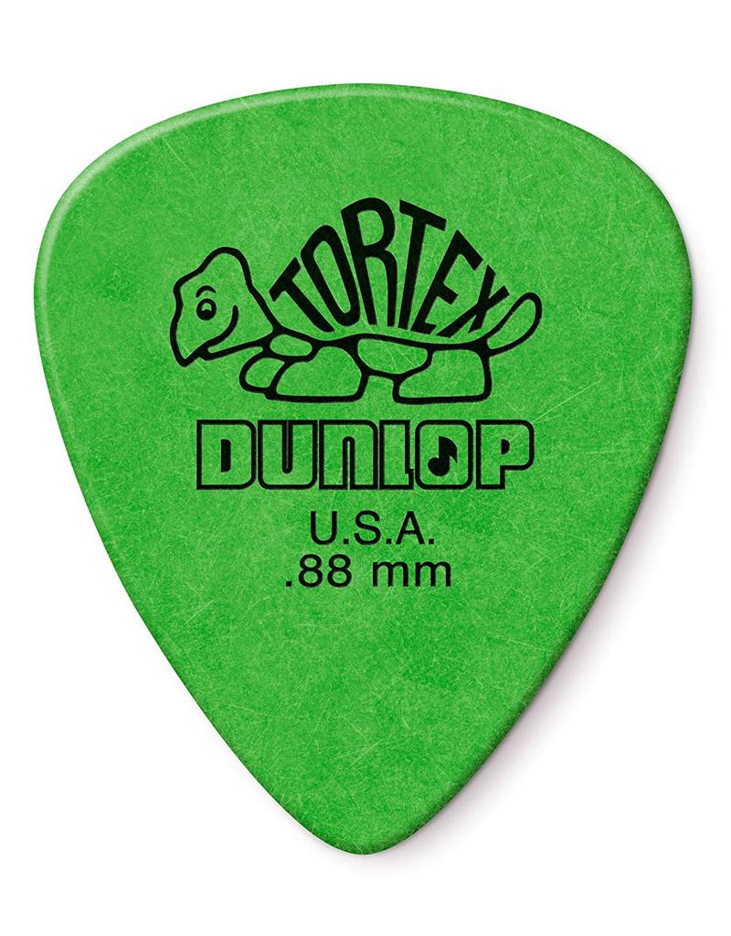 Dunlop Dunlop 418P.88 Tortex Standard .88mm Green Guitar Picks 12-Pack