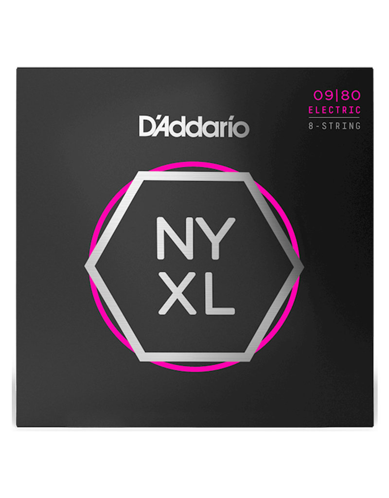 D'Addario D'Addario NYXL0980 Nickel Wound Electric Strings -.009-.080 8-string Super Light
