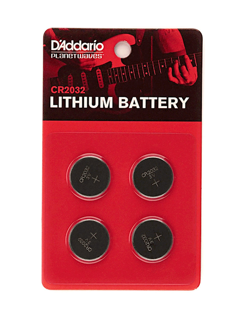 D'Addario D'Addario PW-CR2032-04 CR2032 Battery 4-pack