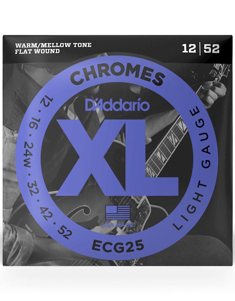 D'Addario D'Addario ECG25 Chromes Flatwound Electric Strings -.012-.052 Light