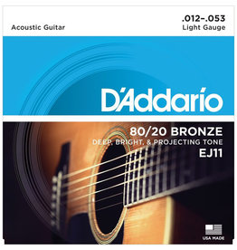 D'Addario D'Addario EJ11 Light 80/20 Bronze Acoustic Strings - .012-.053
