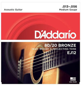 D'Addario D'Addario EJ12 Medium 80/20 Bronze Acoustic Guitar Strings - .013-.056