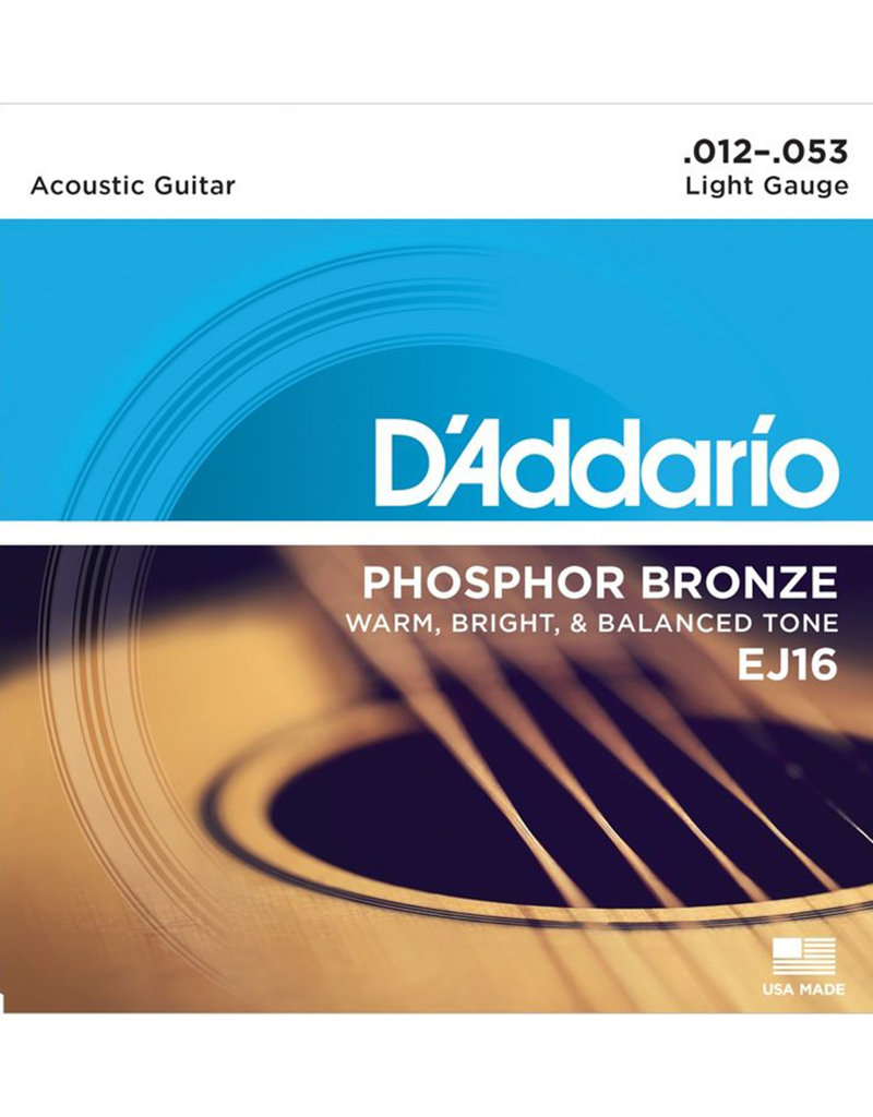 D'Addario D'Addario EJ16 Phosphor Bronze Light Acoustic Strings