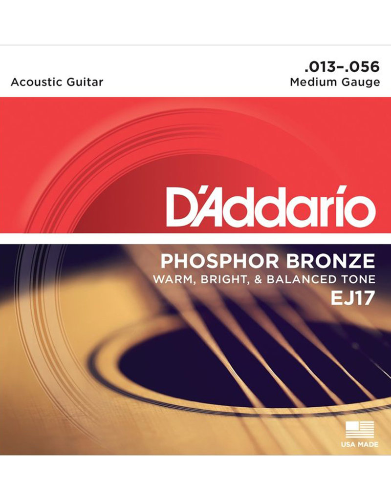 D'Addario D'Addario EJ17 Phosphor Bronze Medium Acoustic Strings
