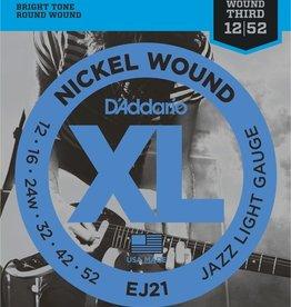 D'Addario D'Addario EJ21 Nickel Wound Electric Strings -.012-.052 Jazz Light Wound 3rd