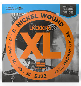D'Addario D'Addario EJ22 Nickel Wound Electric Strings -.013-.056 Jazz Medium Wound 3rd
