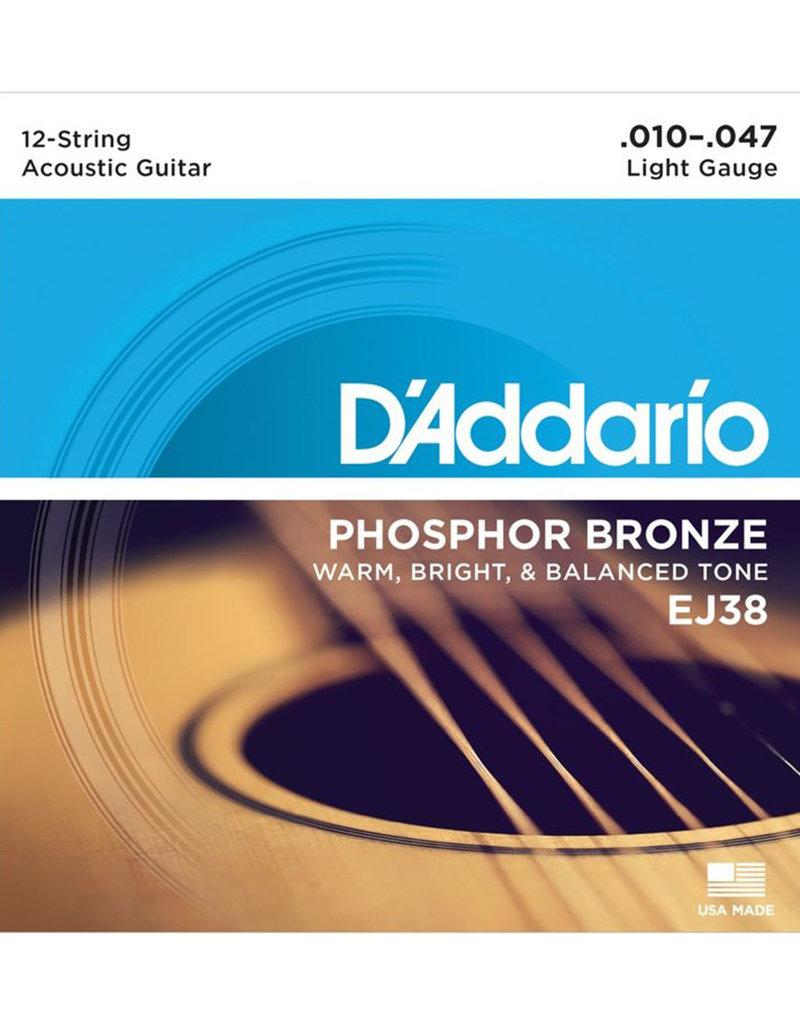 D'Addario D'Addario EJ38 Phosphor Bronze Light 12-String Acoustic Strings