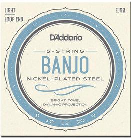 D'Addario D'Addario EJ60 Nickel Wound Banjo Strings - .009-.020 Light 5-Str