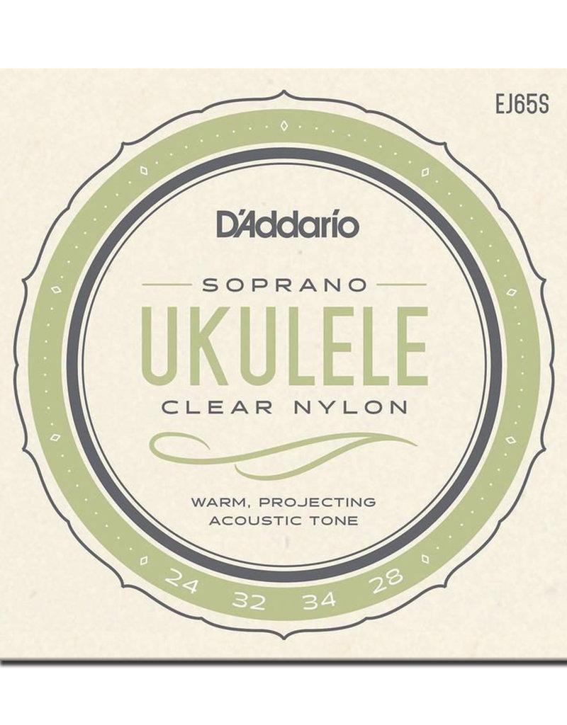 D'Addario D'Addario EJ65S Pro-Arte Custom Extruded Ukulele Strings - .024-.034 Soprano