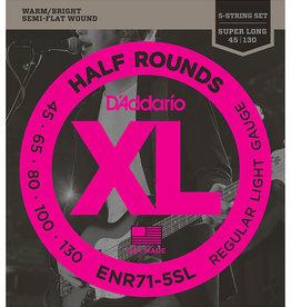 D'Addario D'Addario ENR71-5SL Half Rounds Super Long Scale Light 5-String Bass Strings