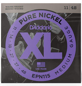 D'Addario D'Addario EPN115 Pure Nickel Electric Guitar Strings .011-.048