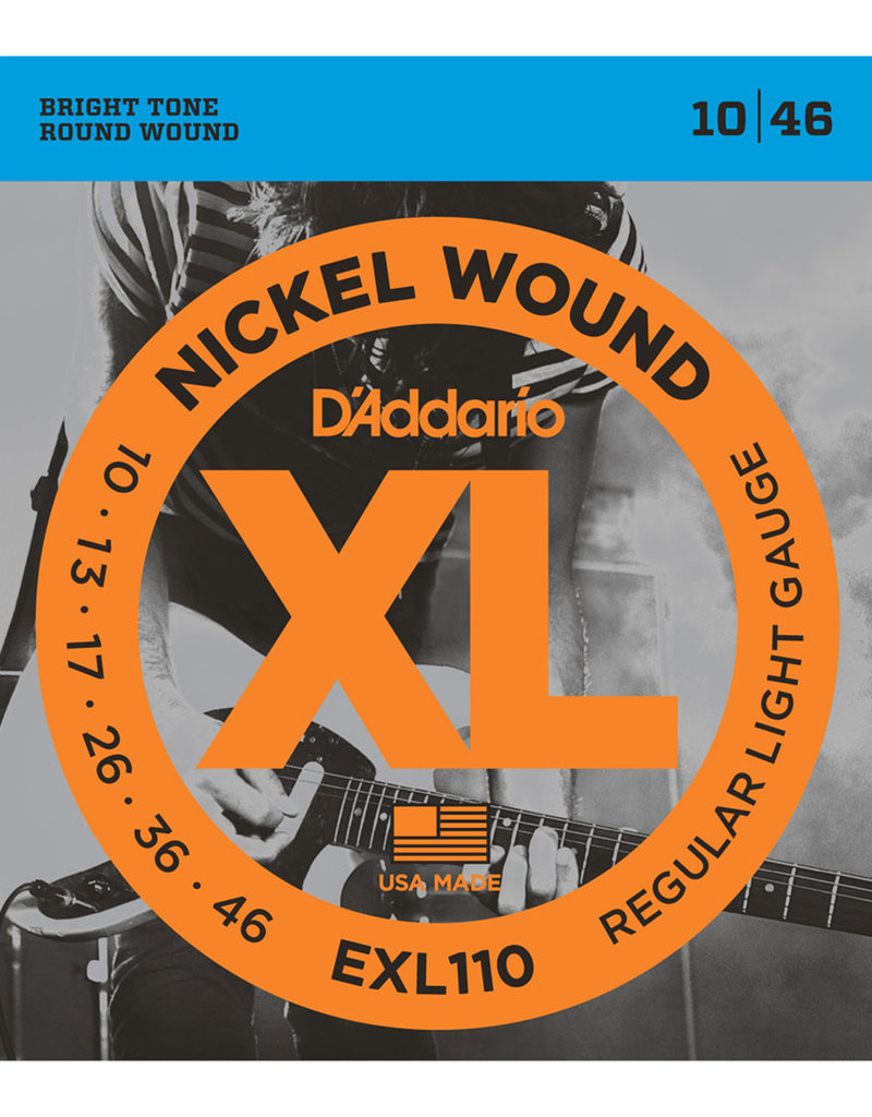 D'Addario D'Addario EXL110 Nickel Wound Electric Strings -.010-.046 Regular Light