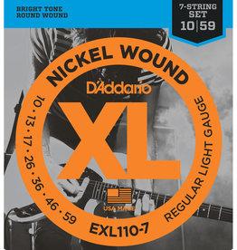 D'Addario D'Addario EXL110-7 Nickel Wound Electric Strings -.010-.059 7-string Regular Light