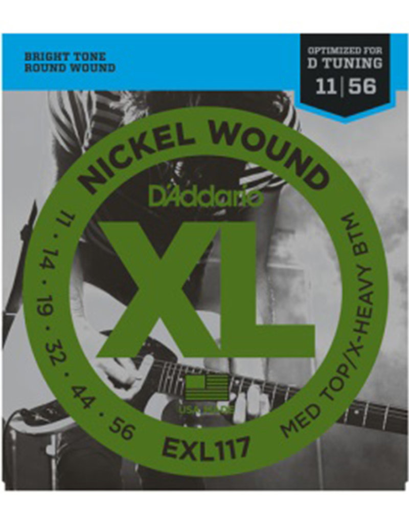 D'Addario D'Addario EXL117 Nickel Wound Electric Strings -.011-.056 Medium Top/Extra-Heavy Bottom