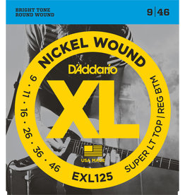 D'Addario D'Addario EXL125 Nickel Wound Electric Strings -.009-.046 Super Light Top/Regular Bottom