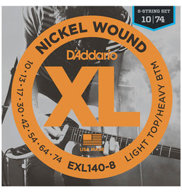 D'Addario D'Addario EXL140-8 Nickel Wound Electric Strings -.010-.074 8-string Light Top/Heavy Bottom