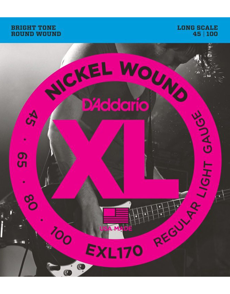 D'Addario D'Addario EXL170 Regular Light Nickel Wound Long Scale Bass Strings - .045-.100