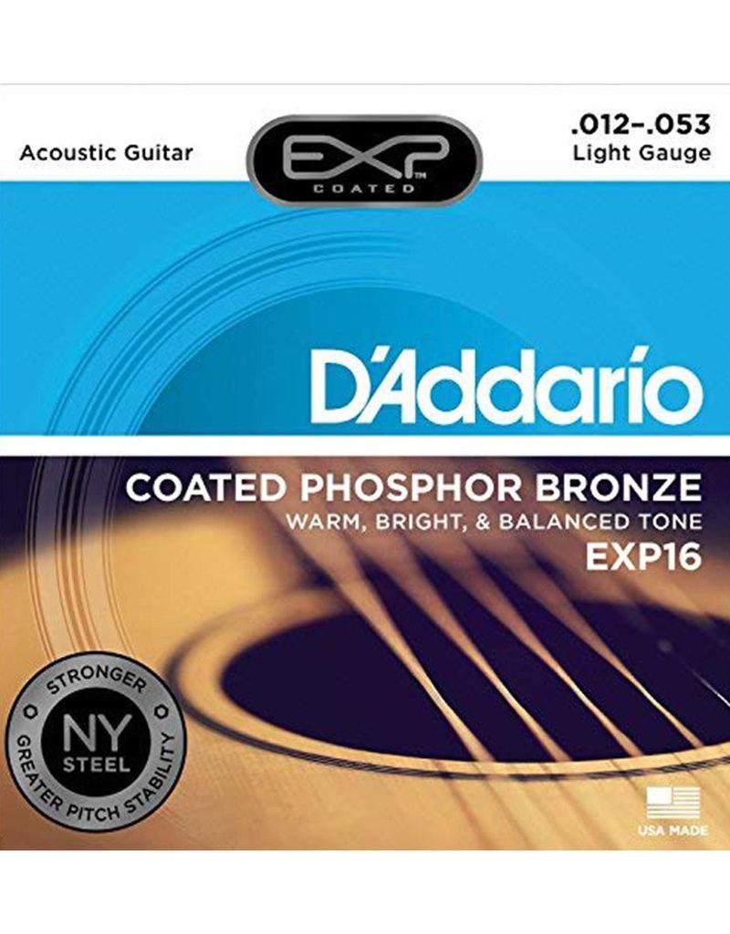 D'Addario D'Addario EXP16 Coated Phosphor Bronze Light Acoustic Strings