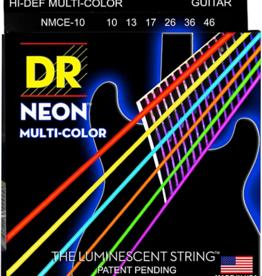 DR Strings Hi-Def NEON Multi-Color Medium Electric Guitar Strings 10-46