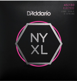 D'Addario D'Addario NYXL45130 Regular Light 5-string Long Scale Nickel Wound Bass Strings - .045-.130