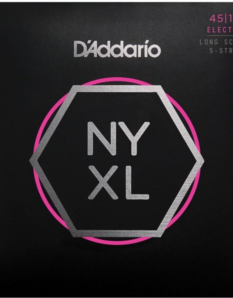 D'Addario D'Addario NYXL45130 Regular Light 5-string Long Scale Nickel Wound Bass Strings - .045-.130