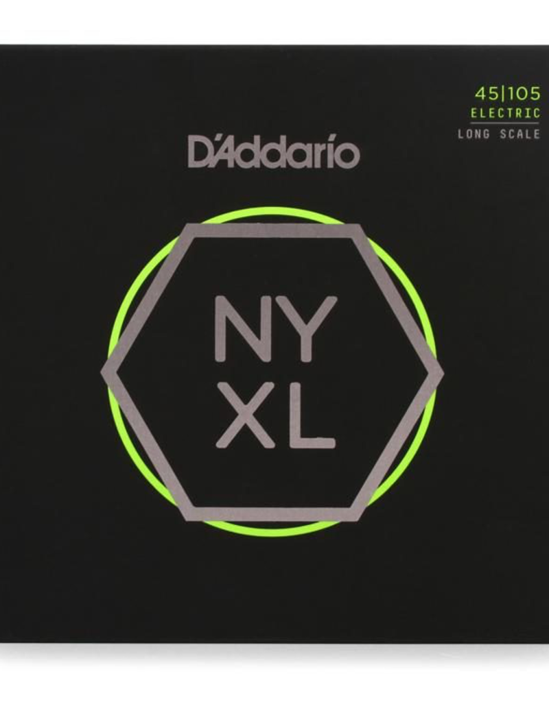 D'Addario D'Addario NYXL45105 Light Top/Medium Bottom Long Scale Nickel Wound Bass Strings - .045-.105
