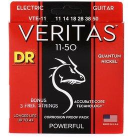 DR Strings VTE-11 Veritas Electric Guitar Strings -.011-.050 Heavy
