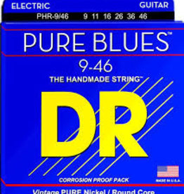 DR Strings PHR-9 Pure Blues Pure Nickel Electric Guitar Strings -.009-.042 Light