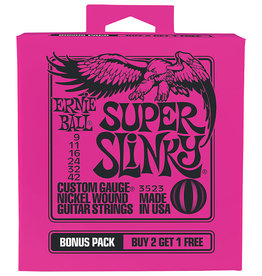 Ernie Ball Ernie Ball 3523 Bonus Pack Super Slinky Nickel Wound Electric Guitar Strings - .009-.042 Gauge