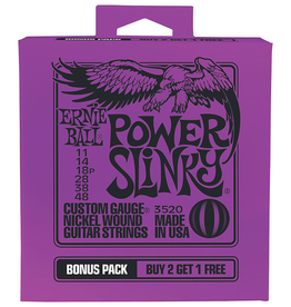 Ernie Ball Ernie Ball 3529 Power Slinky Bonus Pack Guitar Strings - .011-.048