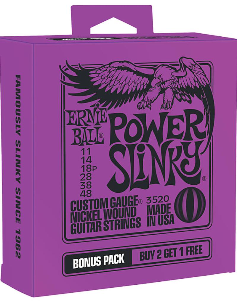 Ernie Ball Ernie Ball Power Slinky Bonus Pack 3520 Guitar Strings - .011-.048