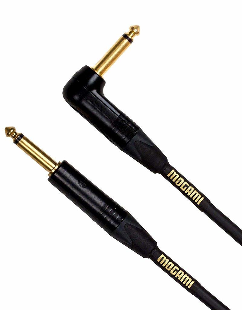 Mogami Mogami Gold Instrument R, Straight to Right, 25 Feet