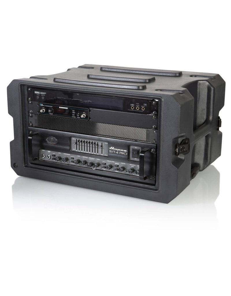 """Gator Gator G-PROR-6U-19 19"""" Deep Molded Audio Rack w/ wheels"""