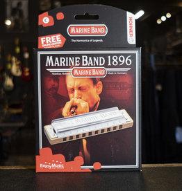 Hohner Marine Band 1896 Harmonica, Key of C