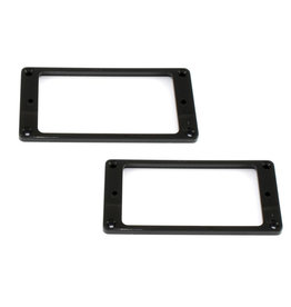 Allparts Allparts Humbucker Pickup Ring Set Slanted Black