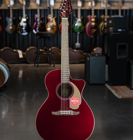 Fender Fender Newporter Player, Walnut Fingerboard, Candy Apple Red Acoustic Guitar