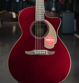 Fender Fender Newporter Player, Walnut Fingerboard, Candy Apple Red Acoustic Guitar