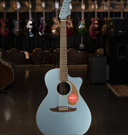 Fender Fender Newporter Player, Walnut Fingerboard, Ice Blue Satin Acoustic/Electric Guitar