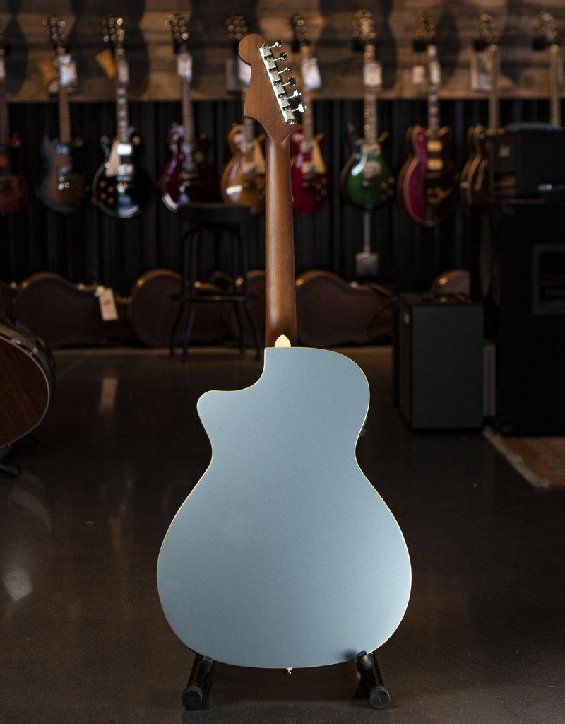 Fender Fender Newporter Player, Walnut Fingerboard, Ice Blue Satin Acoustic/Electric Guitar