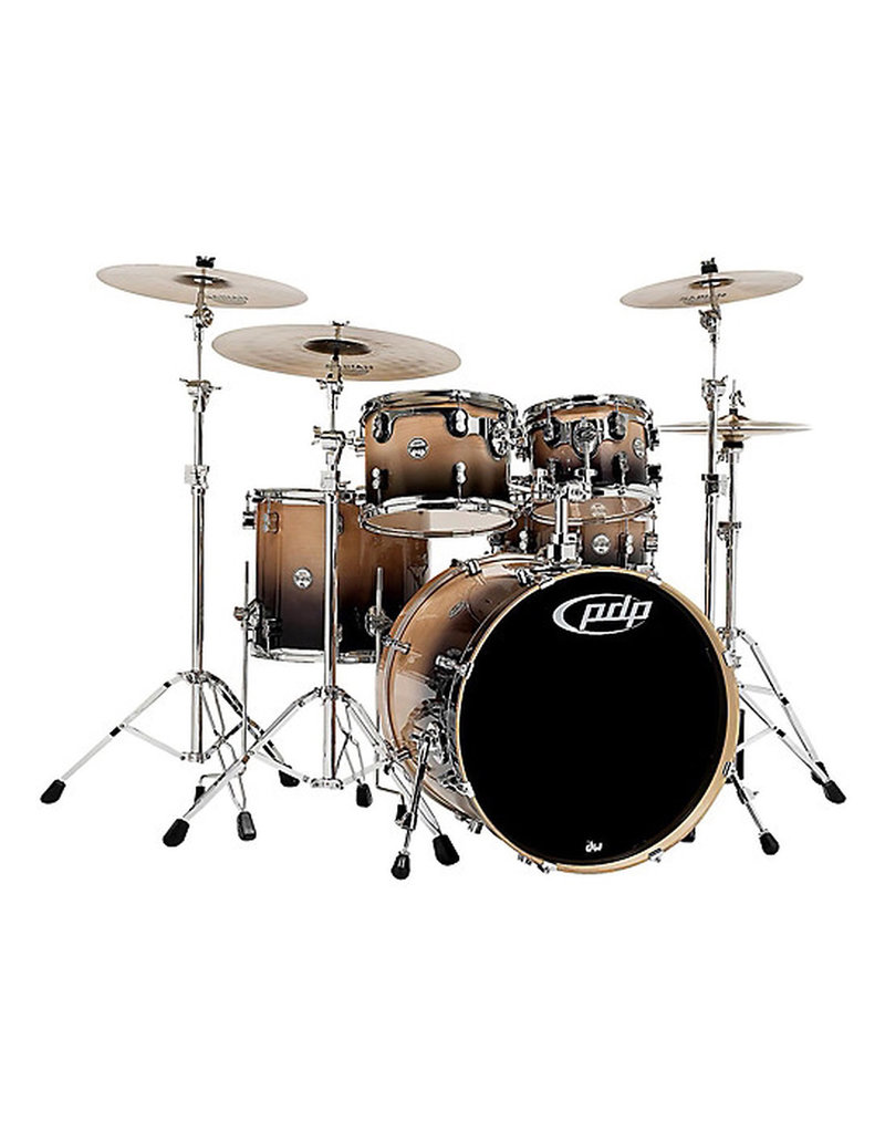 PDP PDP Concept Maple Natural To Charcoal Fade Drum Set - 22, 10, 12, 16, 5.5x14 PDCB2215NC