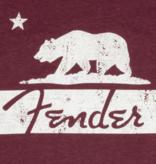 Fender Fender Burgundy Bear Unisex T-Shirt, L