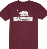 Fender Fender Burgundy Bear Unisex T-Shirt, XL