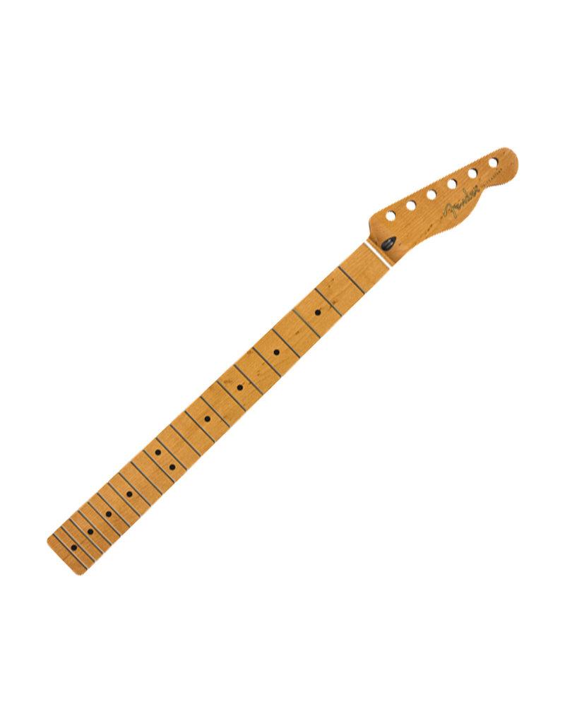 """Fender Fender Roasted Maple Telecaster Neck, 21 Narrow Tall Frets, 9.5"""", Maple, C Shape"""