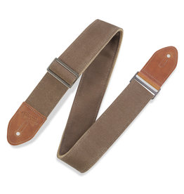 "Levy's Levy's M7WC-TAN 2in"" Waxed Canvas Guitar Strap"