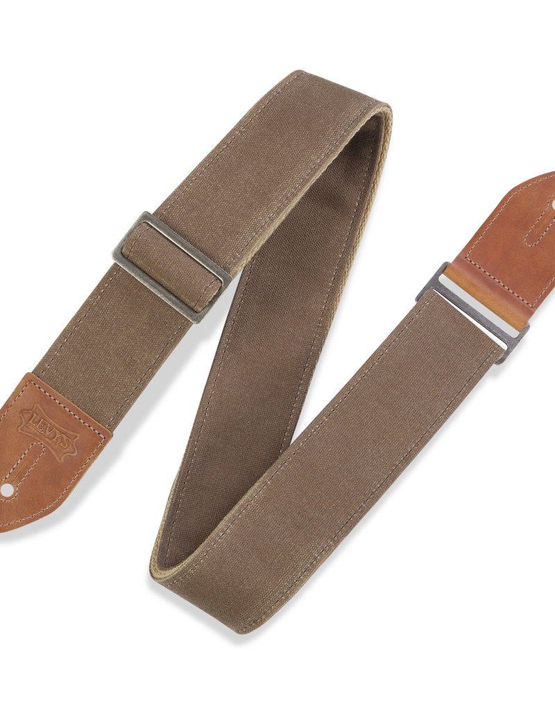 """Levy's Leathers Levy's M7WC-TAN 2in"""" Waxed Canvas Guitar Strap"""